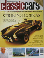 Classic Cars 08/2001 featuring AC Cobra 427, TVR Griffith, Triumph, Riley, MG