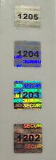 """100 Square Security Hologram Labels Sticker Seals Tamper Evident .5"""" SVAG #'d"""