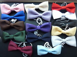QUALITY-BOYS-CHILDRENS-BOW-TIES-ON-ELASTIC-lots-of-colours-to-choose-from