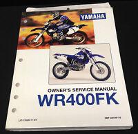 Yamaha 1997 Wr400fk Owner's Service Manual