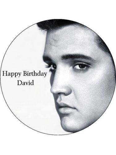 "Pré Coupe givrage Elvis Presley Cake Topper 7.5/"" Round"