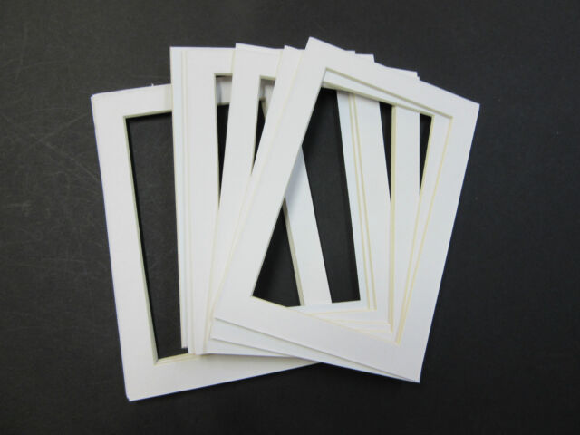 Picture Frame Mat 4x6 for 3.5x5 Photo Set of 6 Mats White Color | eBay