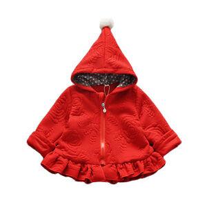 Cinda-filles-manches-longues-manteau-capuche-en-rouge-rose-fonce-18-24-mois-2-3