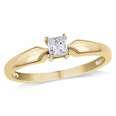 Amour 1/4 CT TW  Diamond Solitaire Engagement Ring in 10k Yellow Gold
