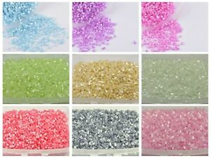 5000-Glass-Tube-Bugle-Seed-Beads-2X2mm-Ceylon-Storage-Box-Pick-Your-Color