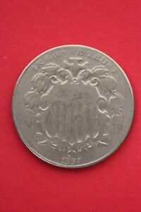 1867-Shield-Nickel-5-Cents-No-Rays-Exact-Coin-Pictured-Flat-Rate-Shipping-OCE008