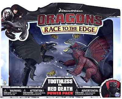 Rare Dreamworks How To Train Your Dragon Toothless Vs Red Death Battle Pack Ebay