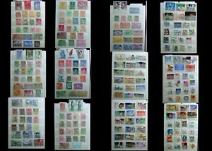 Stamp Collection From Belgium & The United States Of America, Free Shipping