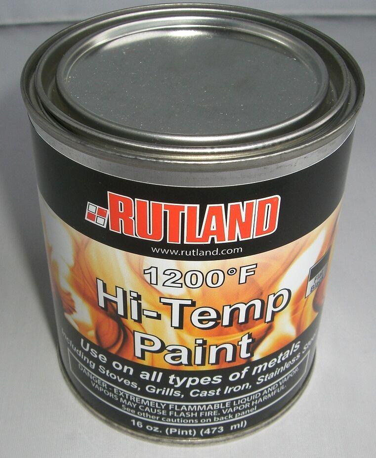 Rutland 1200 Degree F Brush On Flat Stove Paint 16 Fluid