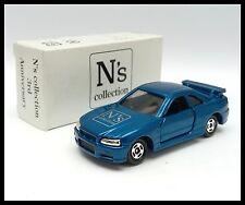 TOMICA N's Collection 3rd NISSAN SKYLINE GT-R R34 1/61 TOMY DIECAST CAR Blue