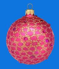 6cm MY PEARL WHITE BALL EUROPEAN BLOWN GLASS CHRISTMAS TREE ORNAMENT SET 076