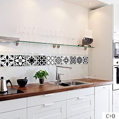 Waterproof Pvc Self Adhesive Tile Stickers Kitchen Bathroom Decor Art Wall Decal Ebay