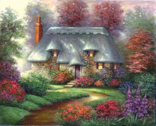 Romantic Cottage Malen auf Leinwand Meisterwerk