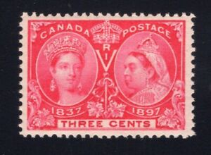 Canada-Sc-53-1897-3c-Bright-Rose-Diamond-Jubilee-VF-NH