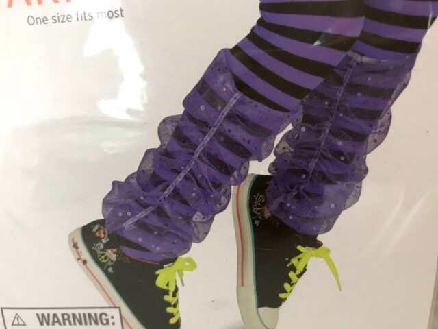 One Size Forum Womens Sequin Leg Warmers Purple