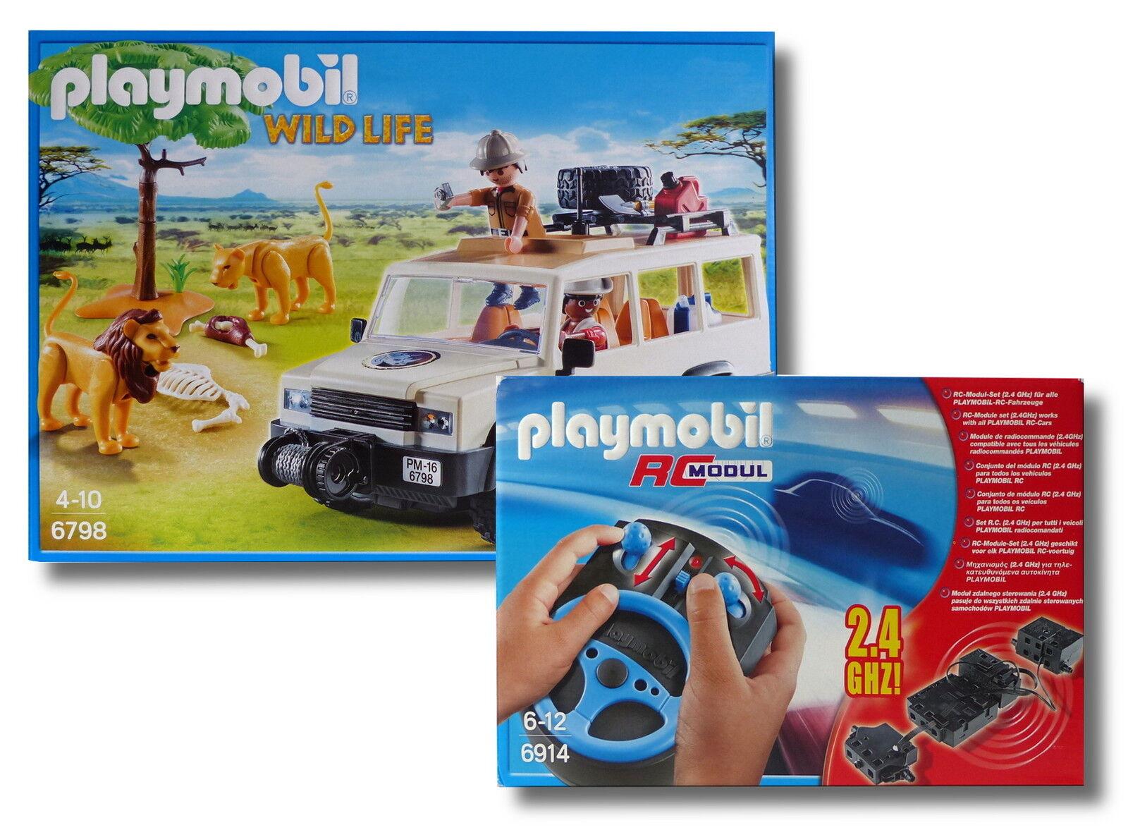 PLAYMOBIL ® Wild Life 6798+6914  SAFARI FUORISTRADA + RC Modulo-Set  Nuovo/Scatola Originale