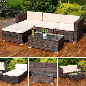 5tlg Garten Ecksofa Lounge Mit Tisch Polster Sitzgruppe