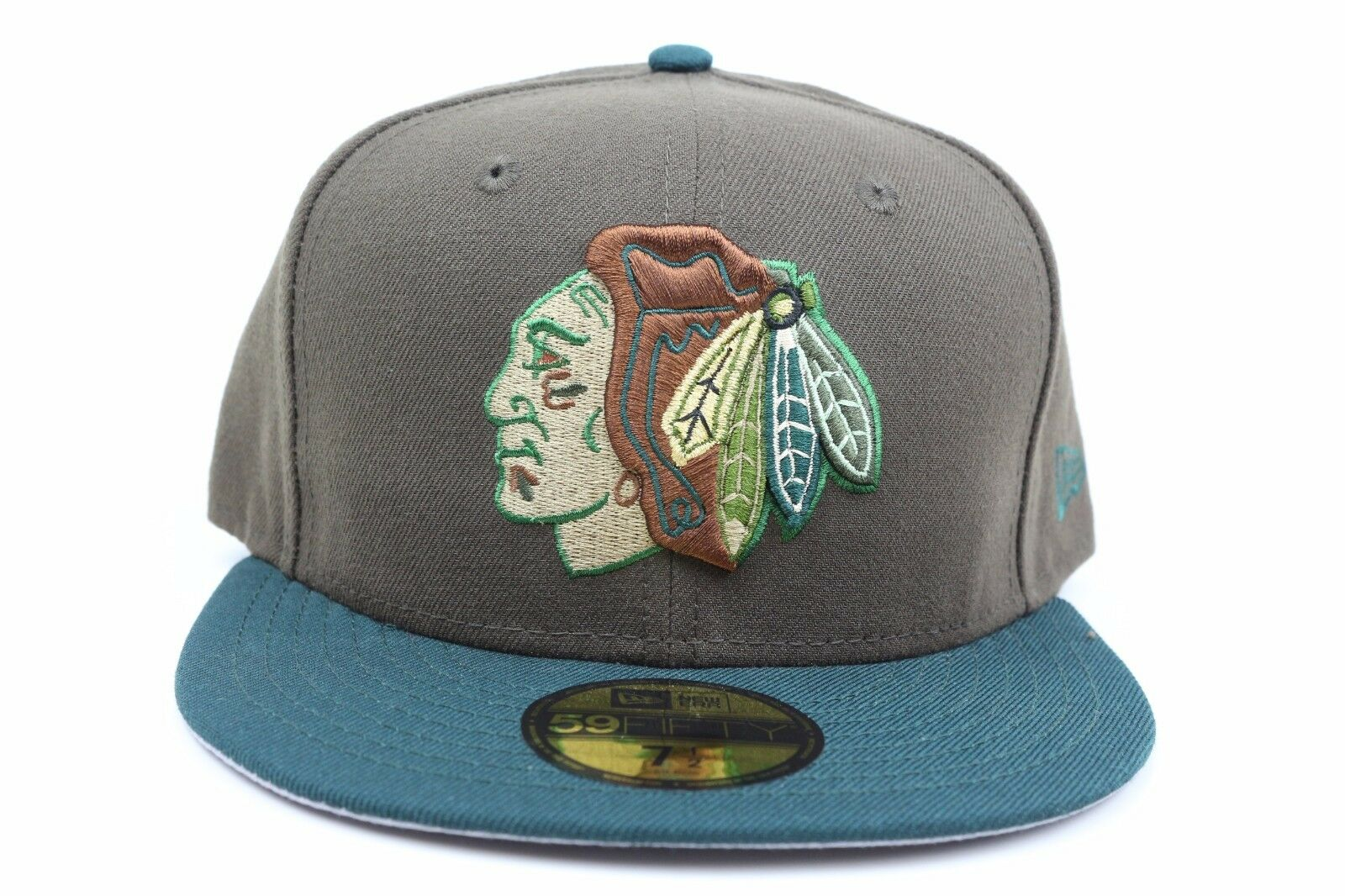 info for e259c d73b3 ... discount chicago blackhawks and brown green beef and blackhawks  broccoli new era 59fifty fitted hat 316859