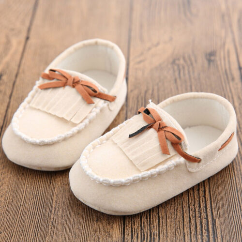 Newborn Baby Toddler Boy Girl Crib Loafers 0-18 Months Infant Soft Sole Shoes
