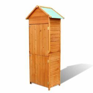 Vidaxl armario de almacenaje de jard n madera impermeable mueble de exterior ebay - Armario de madera para exterior ...