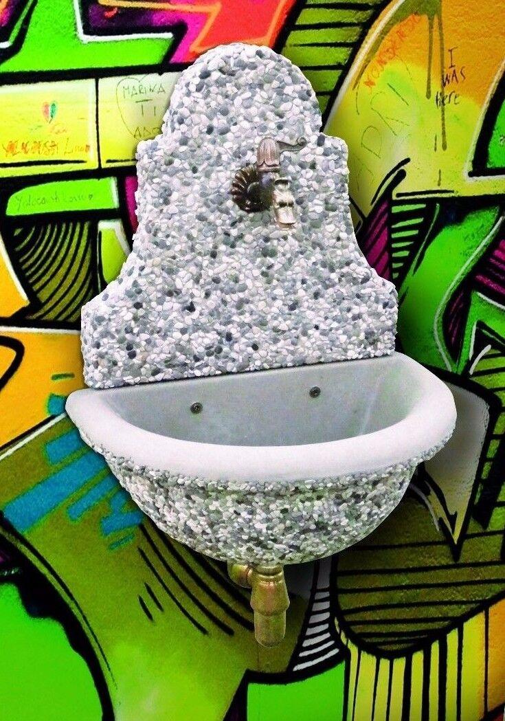 BONFANTE Lavello Acquaio da muro cemento marmo DANUBIO Ghiaino Lavato