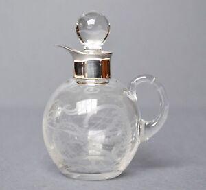 kleine kristall karaffe k nnchen glas 925 silber hermann bauer schw bisch gm nd ebay. Black Bedroom Furniture Sets. Home Design Ideas