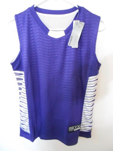 EASTBAY EVAPOR ELEVATE BALL COURT GAME JERSEY YOUTH XL PURPLE POLYESTER Shirt