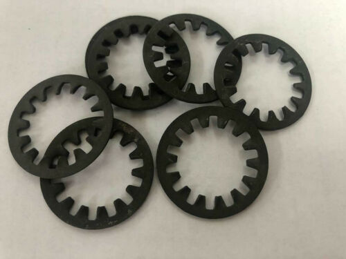 3//4 Shakeproof Shockproof Lock Washer Internal Tooth Black Pack of 10