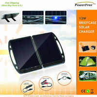 13w 13 Watt Foldable Solar Charger Briefcase Portable Solar Panel 12v Global