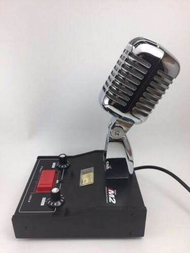 CHROME DELTA M2 AMPLIFIED POWER BASE MICROPHONE 5pin