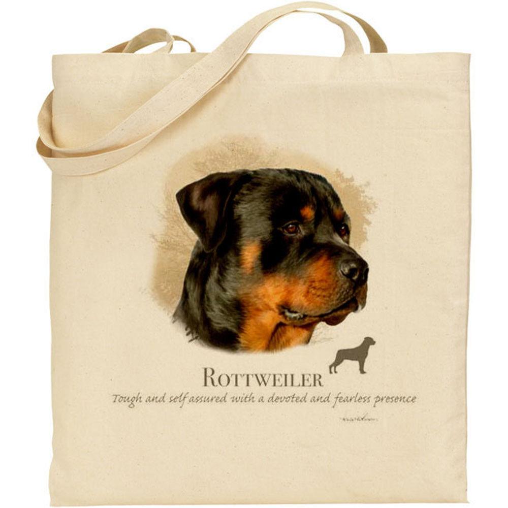 Rottweiler Dog Breed Howard Robinson reusable cotton shopping shoulder tote bag