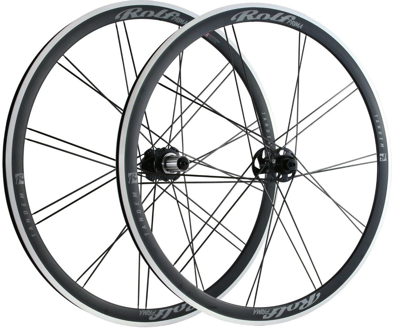 Rolf Prima Tandem Wheelset -  Alloy,145 spaced, NEW Current Model      amazing colorways
