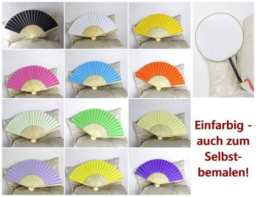 einfarbig Klappfächer DIY Hand Fächer Stoff Papier asiatisch japan chinesisch