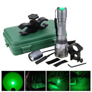 3500LM-250-Yards-Green-Hunting-Torch-Light-LED-Infrared-Flashlight-Rechargeable