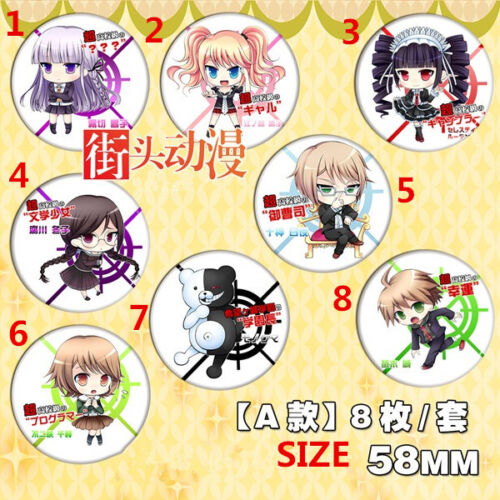 "2.3/"" TT455 Hot Anime DANGANRONPA Pin button Cosplay 5.8CM"