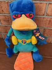 Phineas & Ferb Perry Mission Marvel Plush Cape Platypus Superhero NEW Agent P