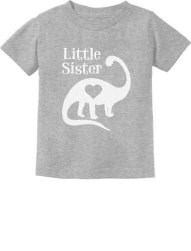 Little Sister Gift Siblings Love Dinosaur Girls Toddler//Infant Kids T-Shirt Dino