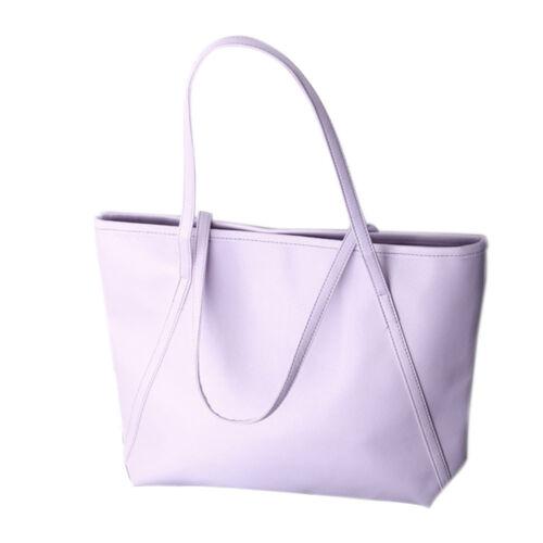 FASHION semplice Donne Zaini grandi borse Messenger Totes Faux Leather