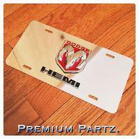 Dodge Emblem License Plate 3d Ram Head Hemi Custom Mirror Chrome Red/chrome