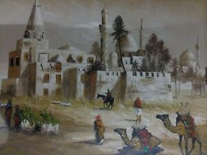 Vintage-Middle-Eastern-Oil-Painting