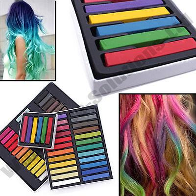 Hair Chalk Temporary Hair Dye Colour Kit Pastels Colours Salon Kit