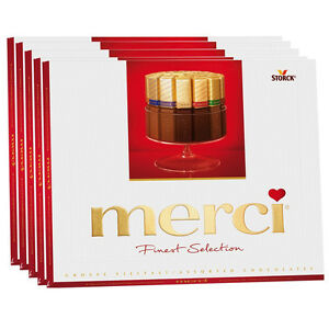 5x Storck MERCI Finest Selection Assorted Milk Chocolate Sticks ...