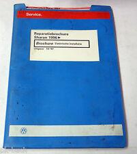 Reparatiebrochure VW Sharan Elektrische installatie van 1996