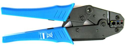 Crimpzange für isolierte Kabelschuhe 0,5-1mm² 1,5-2,5mm² 4-6mm² blau rot