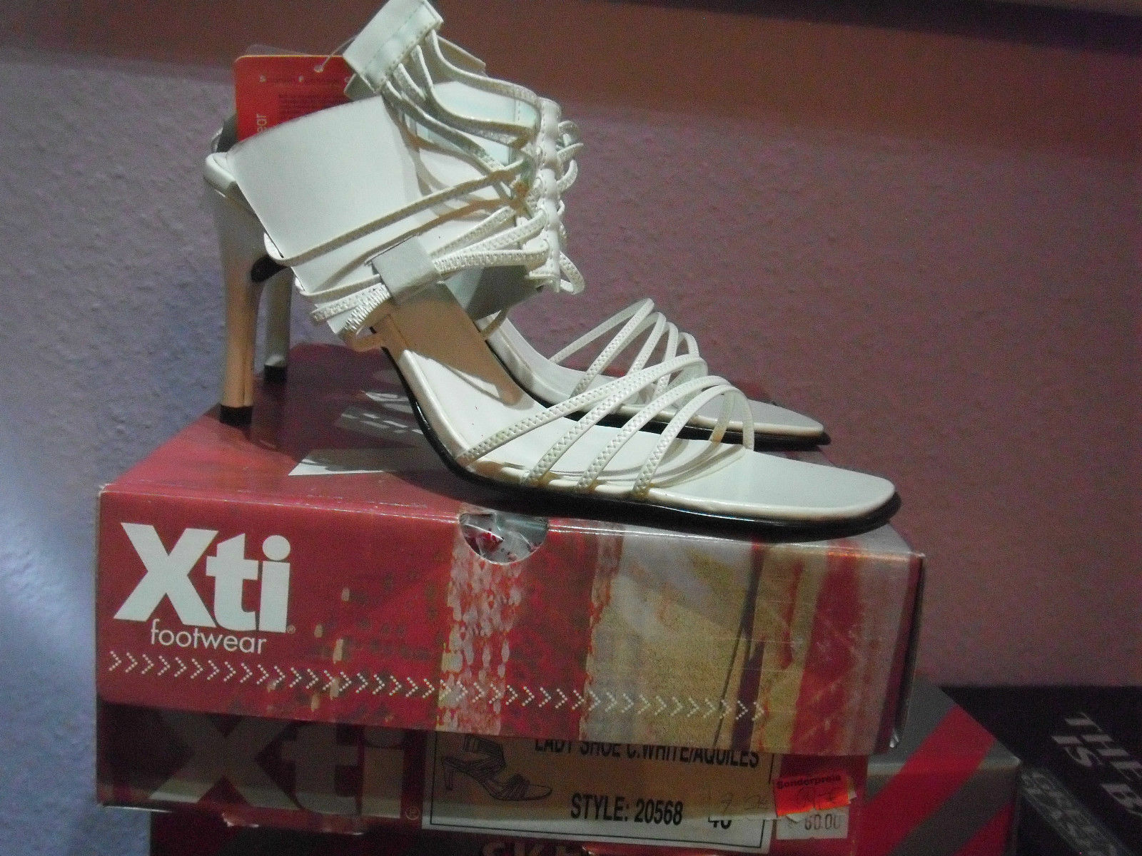 XTi Lady shoes Spanish Court High Heels brautkleidschuhe Size 40