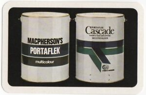 Playing-Cards-1-Single-Card-Old-MACPHERSONS-PORTAFLEX-Paint-Tins-Advertising-Art