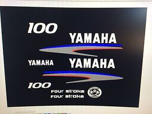 Yamaha 100hp four stroke outboard engine decals//sticker kit