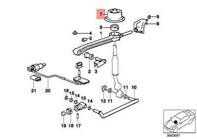 Genuine BMW E31 E32 E34 Shift Lever Trunk Manual Transmission OEM 25111220785