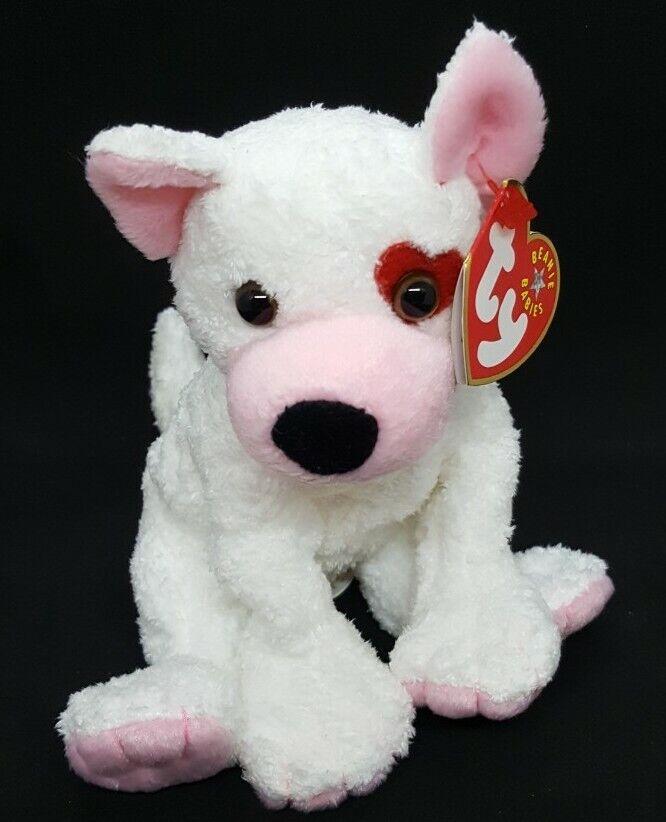 "TY Beanie Babies CUPID The Dog 6"" Plush Stuffed Animal Toy ~ NEW"