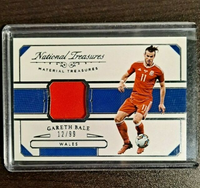 2018 National Treasures Soccer Gareth Bale Match Worn Patch 12/99 Wales